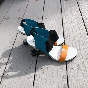 New United Nude reverse heel sandals